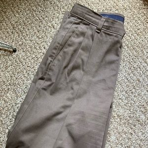 Men's brown dockers by levi's pleated pants